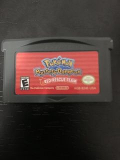 Pok mon Mystery Dungeon Red Rescue Team for Gameboy Advanced Sp