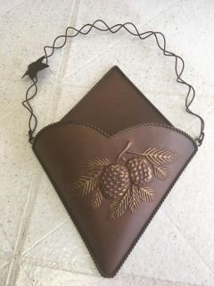 14x9 metal pine cone wall hanging 1 of 2
