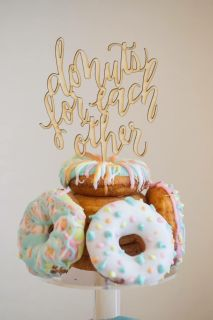 Wedding cake topper donuts for each other