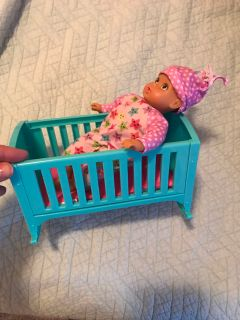 7 baby doll and crib