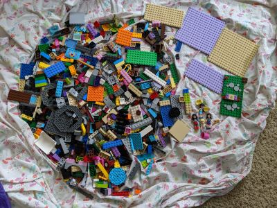 Lego Friends and Misc Lego Brand plates and parts