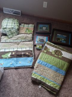 Full size bedding set with decor