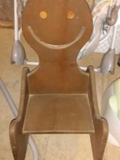 solid wood old time rocking chair