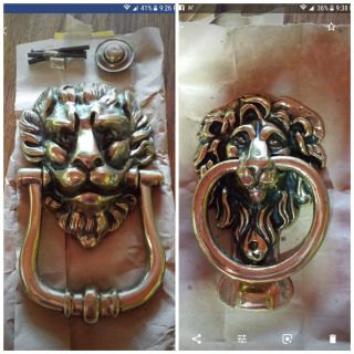 Polished Brass Lion Door Knockers