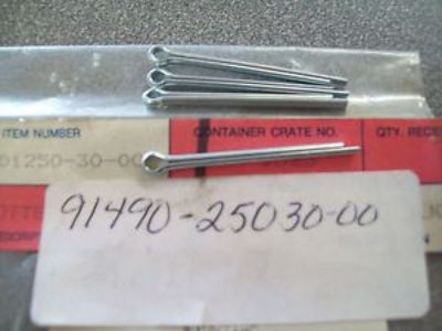 Sell Genuine Yamaha Cotter Pin (4) CS340 BR250 TTR250 & More 91490-25030 NEW NOS motorcycle in Sandusky, Michigan, United States, for US $5.99