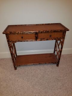 Wood / bamboo console table