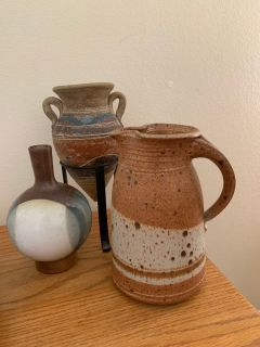 Lot of 3 Vintage Handmade Pottery Pieces