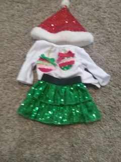18 inch doll Christmas outfit