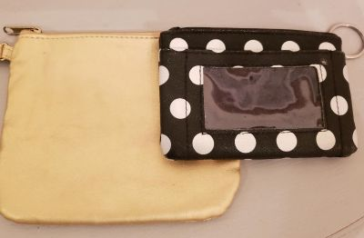 Key chain wallet & Gold Cosmetic case