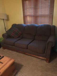 Plaid couch $20