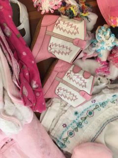 Baby girl clothes shoes blankets