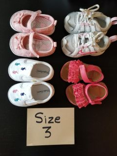 Size 3 toddler/baby girl shoes
