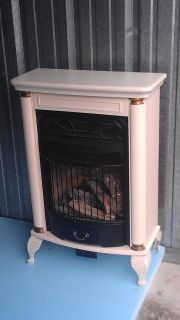 Antique look gas heater