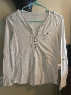 Long-sleeved off-white Eddie Bauer t-shirt S