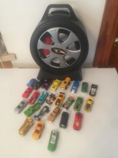 Round hot Wheels Case With Cars