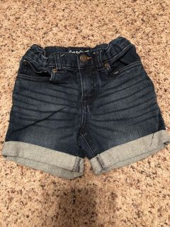 Cat and jack blue jeans shorts