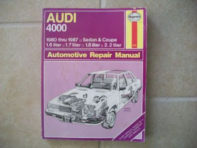 Sell Haynes Repair Manual 615 1980-1987 Audi 4000 1.6 1.7, 1.8 2.2 LITER ENGINE motorcycle in Golden Valley, Arizona, United States, for US $9.89