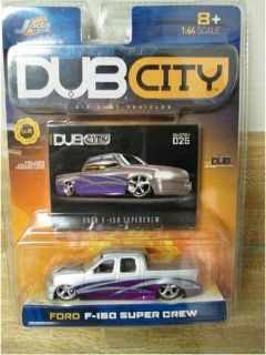 Dub City Ford F 150 Super Crew Slammed Dubs Silver  Purple New 164 D