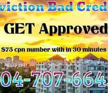 BAD CREDIT EVICTION HELP GET APPROVED WITH $75 CPN NUMBER NATIONWIDE