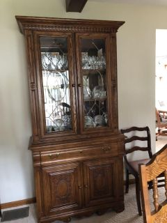 Nice hutch glass ware not included inside