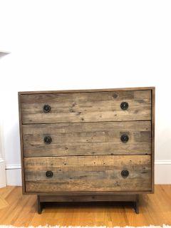 Reclaimed Wood 3-Drawer Dresser