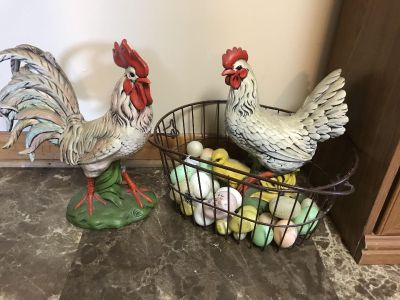 Hen chicken w/ eggs...Basket not included 14 inches tall