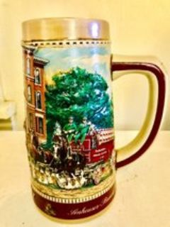 Vintage 1970's Budweiser Beer Stein .. National Historical Landmark series