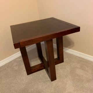 Solid Wood Display/Side Table