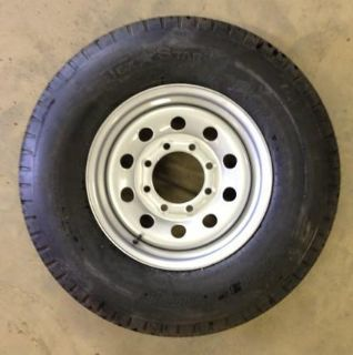 """Purchase WHEEL INCLUDED 235/80B16 ST 10ply Bias Trailer Tire on 16"""" 8 lug wheel. motorcycle in Madisonville, Texas, US, for US $129.99"""