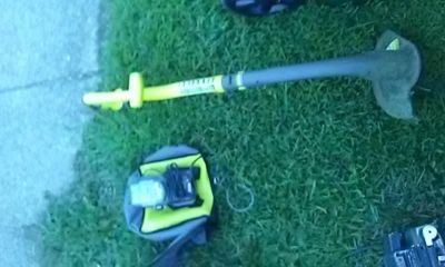 Weed eater battery and charger