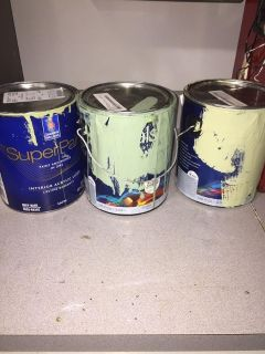 PLEASE READ EVERYTHING!! 3 cans of used sage green toned quality paint. Must ppu near White House middle school
