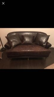Custom Gorgeous high end leather couch ... no holds!