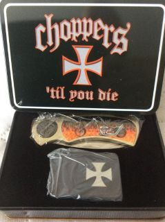 CHOPPERS Knife & Lighter + Belt Buckle