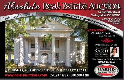 14 Suddith Street: Owingsville KY Coming To Auction!