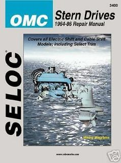 Purchase Seloc Repair Manual OMC Stern Drive 64-86 4 Cyl V6 V8 motorcycle in Millsboro, Delaware, United States, for US $26.95