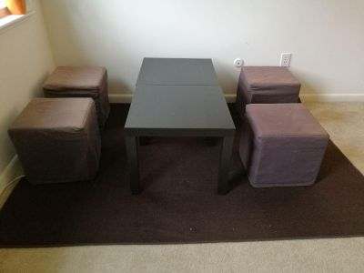 Dining Set with Cushion Chairs