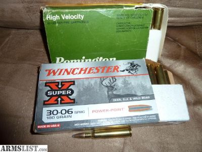 For Sale: 30-06 Remington core Lokt soft point hunting ammo 180 grain
