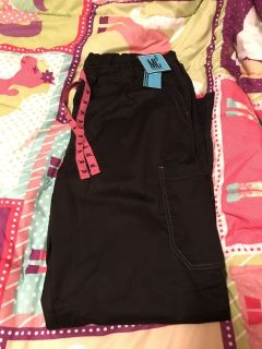 Black med scrub pants NWT xl