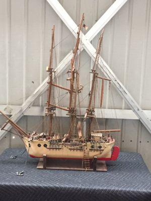 Large Antique Wooden Ship