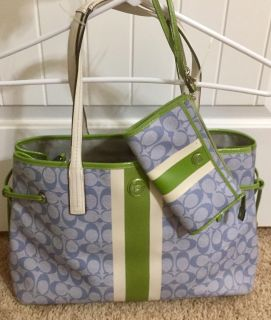 EUC COACH TOTE (wristlet sold separately) spotless inside!