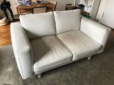 FREE white loveseat