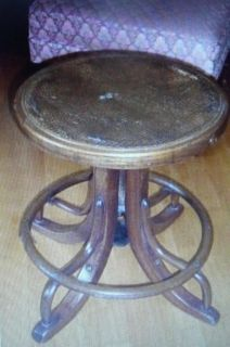 Antique-Phone-Operator-Stool-Seat-Bentwood-Cane-Piano-Stool-HHM20-Pla