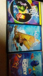 3 new Disney movies finding dory never opened just watched Moana and inside out once
