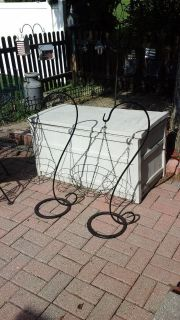 Outdoor Standing Shepard Hook Plant Stands Several Available Like New!