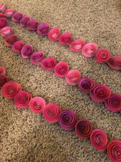 Custom-made Paper Floral Swags