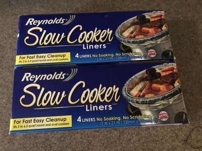 New lot of 2 packs Reynolds slow cooker liners