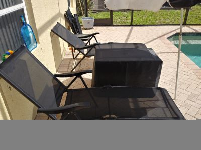 Pool side chairs. Recliners