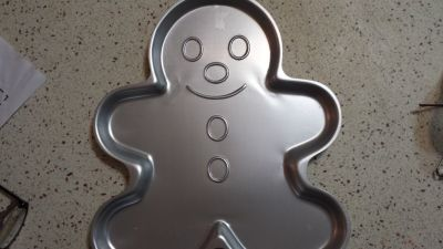 "2 Wilton gingerbread cookie molds, 12""x12"""
