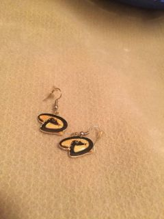 Gold and Black D-Back Earrings