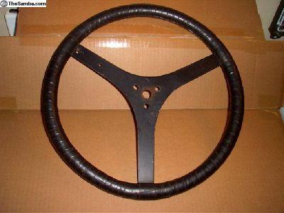 "Handmade Taped Rim Flat Steering Wheel 15"""